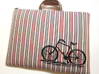 Laptop Bag - Vintage Bicycle on Stripes