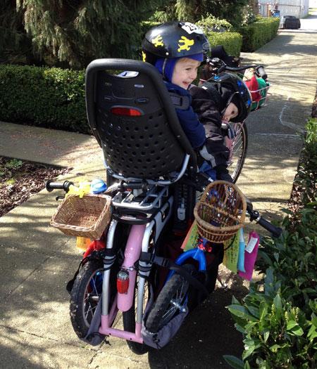 Big Dummy + two kids + two balance bikes
