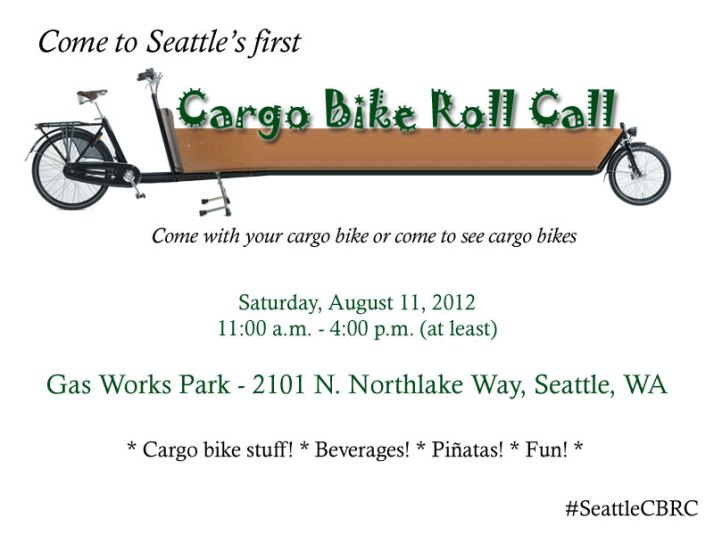 Seattle Cargo Bike Roll Call