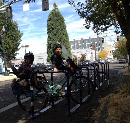 Portland bike corral