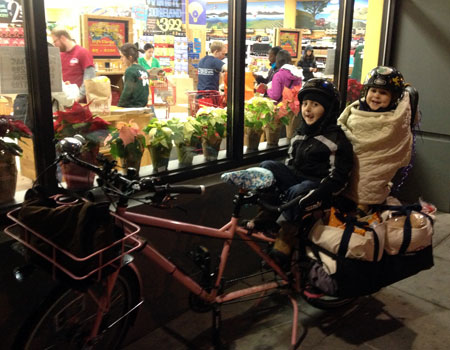Shopping by bike