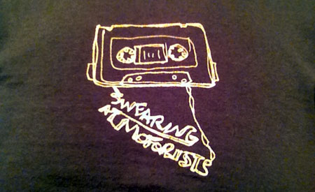 Swearing at Motorists--it's just the shirt I'm wearing today (it's a band, not an attitude)