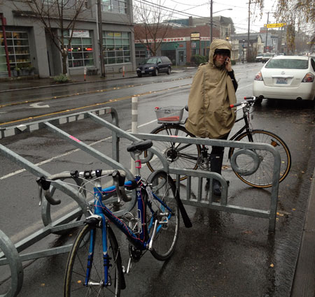 Capitol Hill bike corral