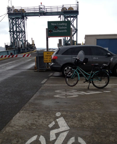 Fauntleroy Ferry Terminal bicycle staging area
