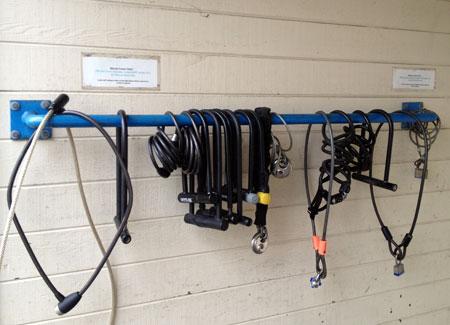 So many bike locks. I'm not sure why.