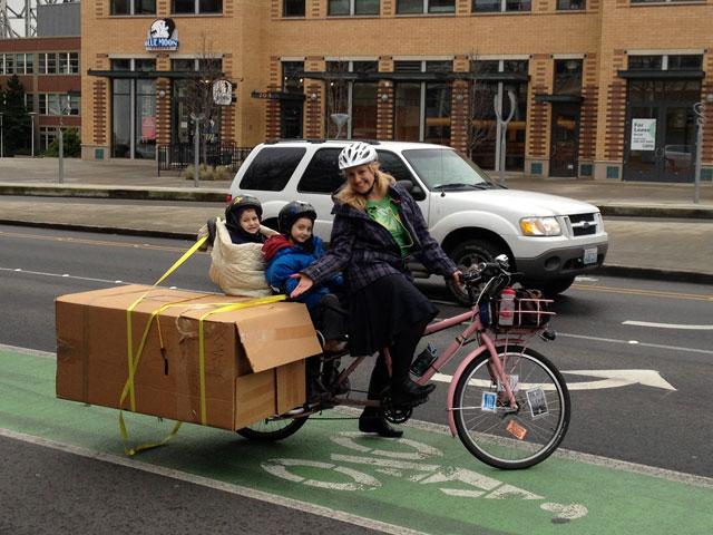 Box on the bike