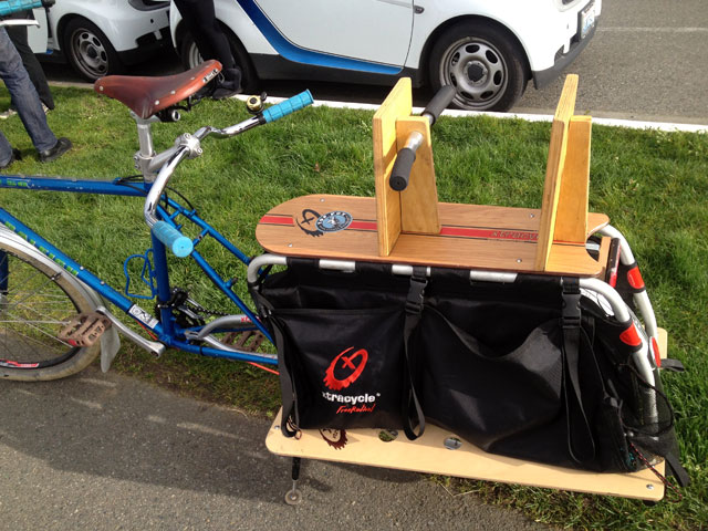 Xtracycle at Alki
