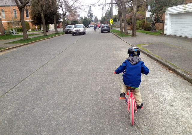 Five-year old on the road!
