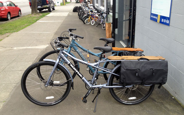 Kona cargo bikes at Recycled Cycles