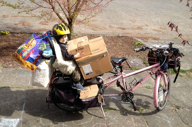 Bike move with helper