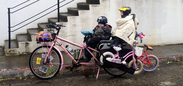 Three pedal bikes