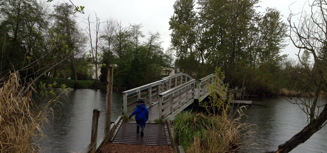 Marsh Island footbridge