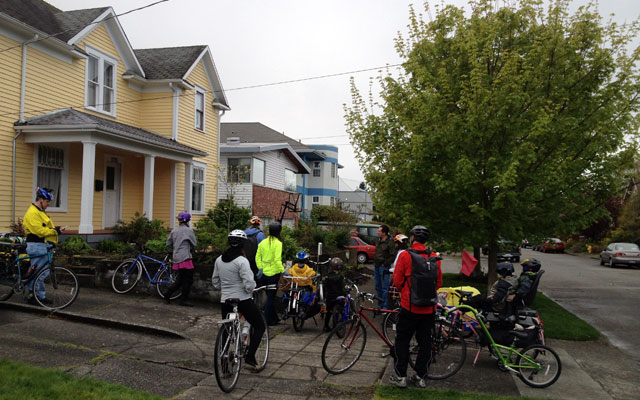 Kidical Mass RainWise stop