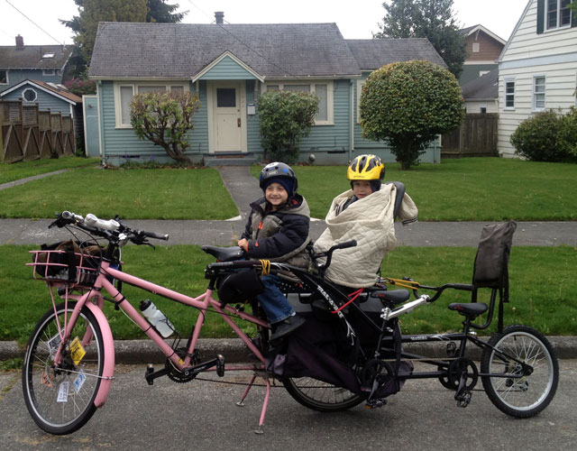 Tandem trail-a-bike in the FreeLoader