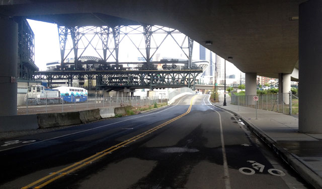 Bike lane in SODO