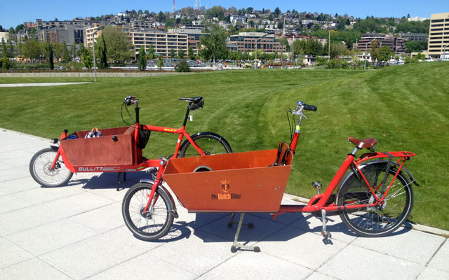 Bullitt and bakfiets side by side