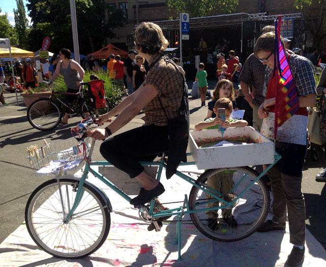 KEXP pedal-powered art bike
