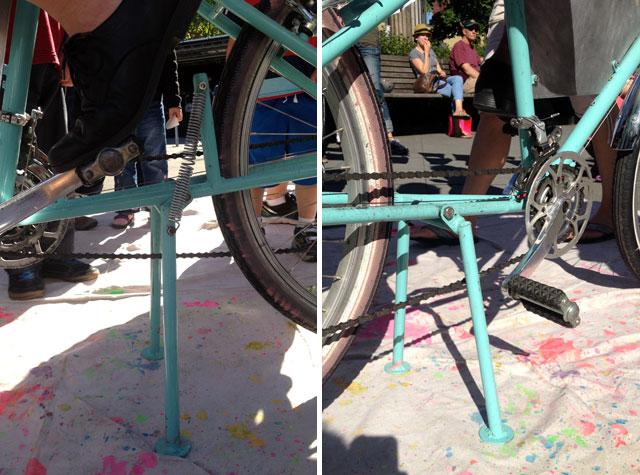 KEXP cargo bike's kickstand