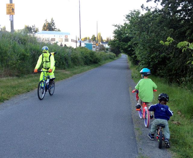 Kids riding solo