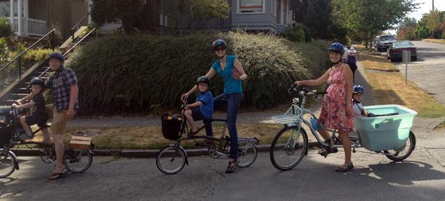 Little bikes and big bike