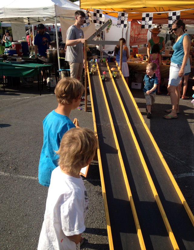 Zucchini car races at Phinney Farmers Market