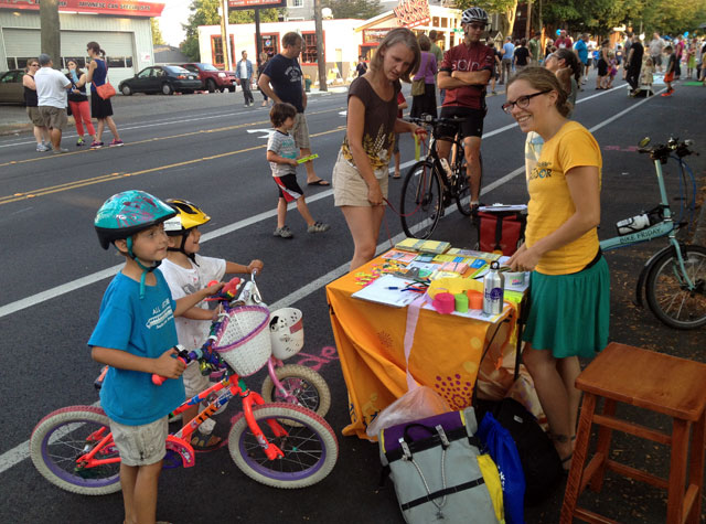 Bike decorating at Summer Streets