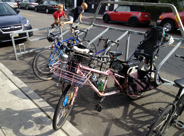 Melrose Market bike corral