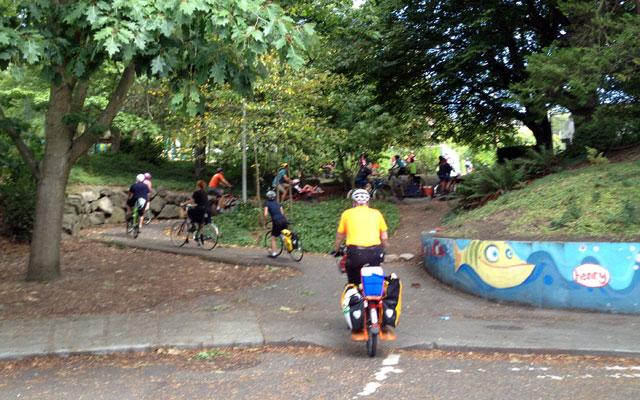 Winding up to Volunteer Park