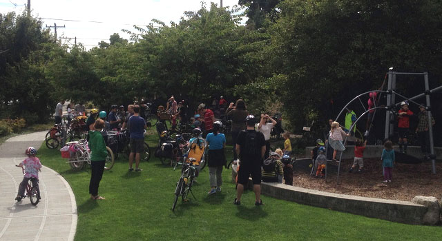 Kidical Mass at Ballard Corners Park