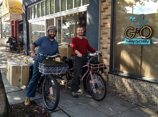O & G of G & O Family Cyclery. And mamachari boxes