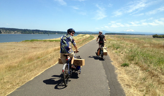 Riding too far along the Columbia River