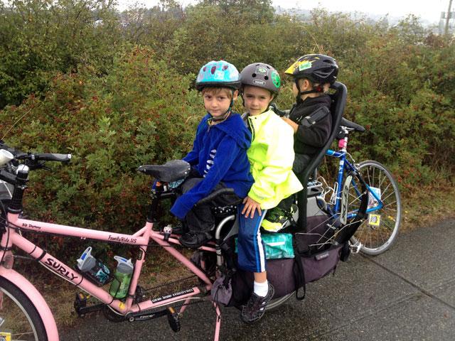 Four (including me) on a bike