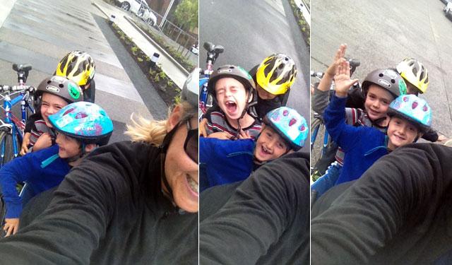 Fun four on a bike