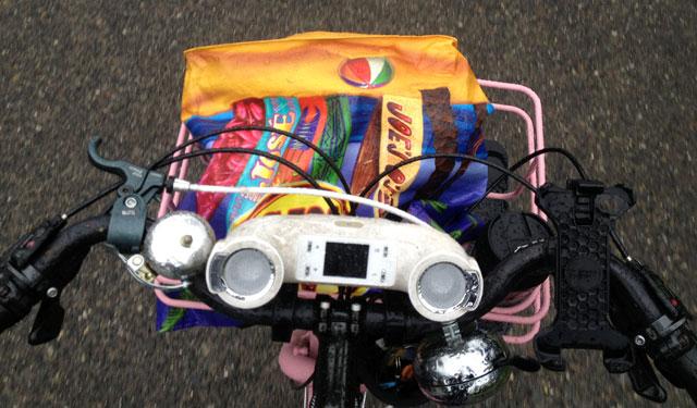 Reusable shopping bag as purse holder