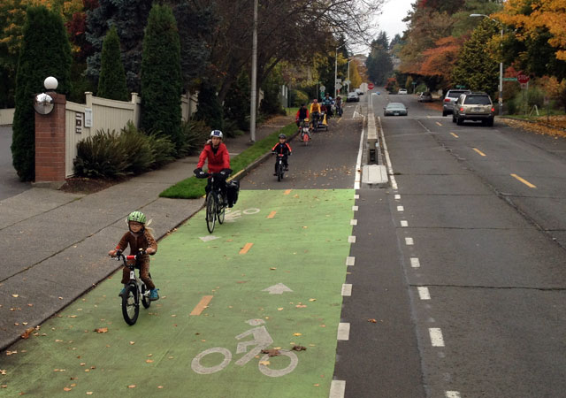 Birthday party on the cycle track