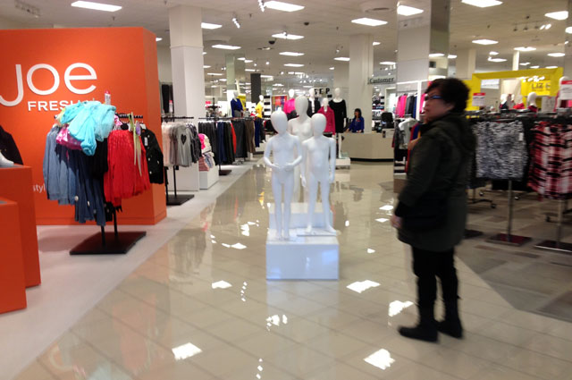 Empty mannequins at the mall
