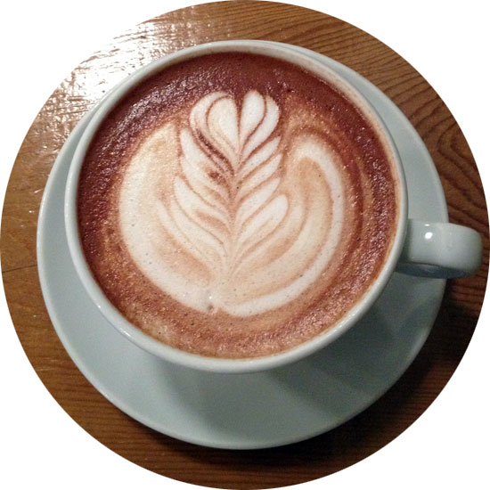 Theo mocha with house-made vanilla at Milstead & Co.