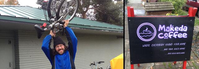 New folding bike and Makeda Coffee