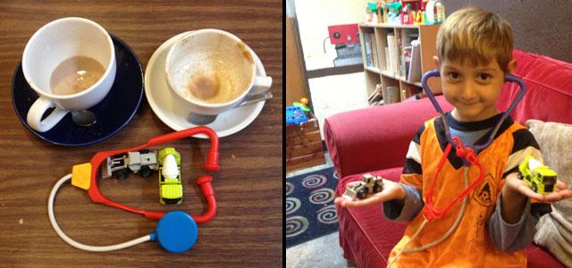 Toys at Makeda Coffee