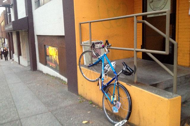 Bike parking in South Lake Union