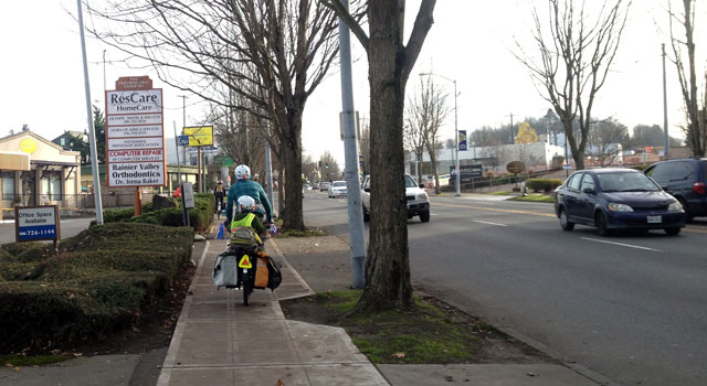 Rainier Ave sidewalk