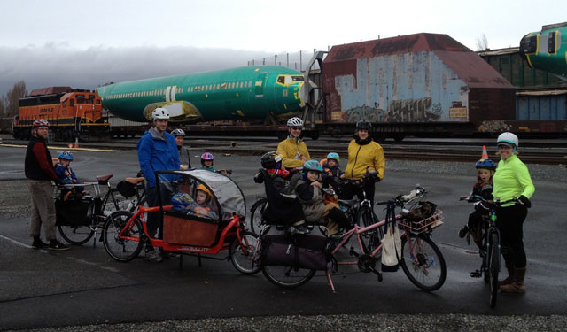 Snack stop in the Magnolia train yard
