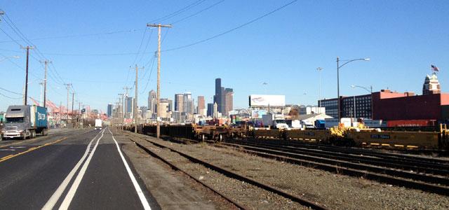Heading towards Downtown Seattle