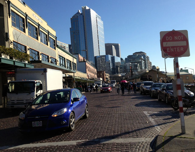 Salmoning up Pike Place