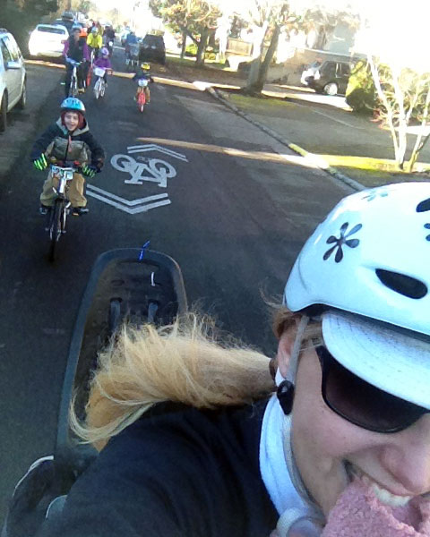 Riding along the Ballard Greenway