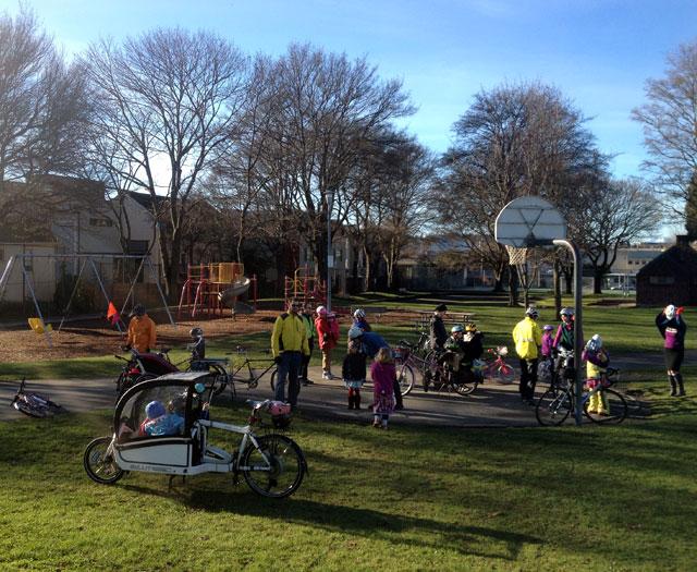 Pit stop at Gilman Playground
