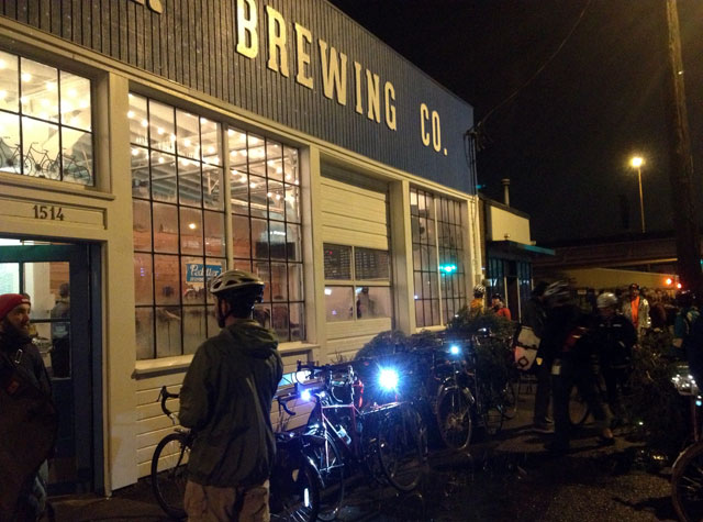 More trees and riders at Peddler Brewing Co