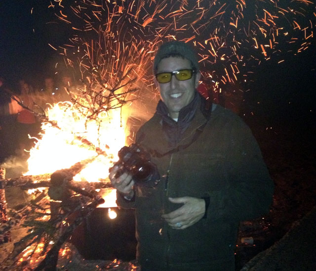 Josh on fire