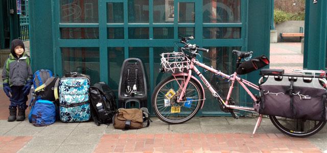 Bike unloaded for BoltBus
