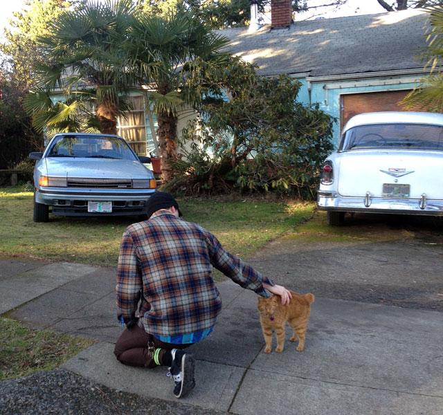 Brock and guard cat